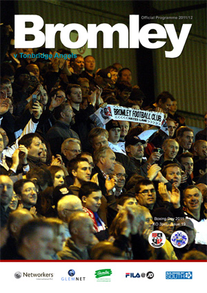 Bromley FC Match Day Programme v Tonbridge Angels