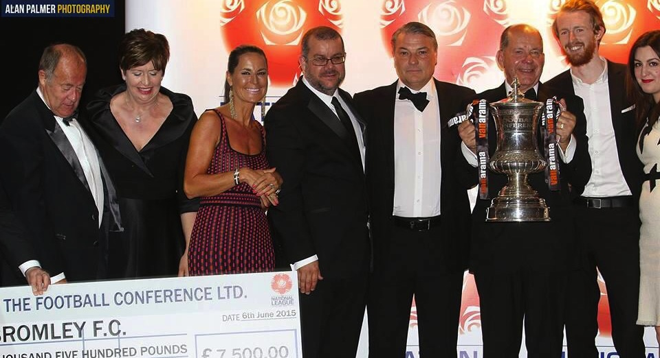 Bromley celebrated the season in style this weekend at The Football Conference Gala Dinner held in Wales at The Celtic Manor.