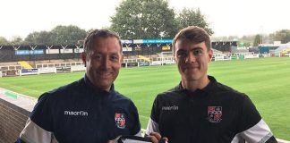 Bromley FC Manager Neil Smith with Dan Johnson Bromley Football Club #WeAreBromley Hayes Lane