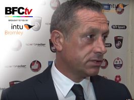 Bromley FC Manager Neil Smith Interview post Dagenham & Redbridge courtesy of intu Bromley