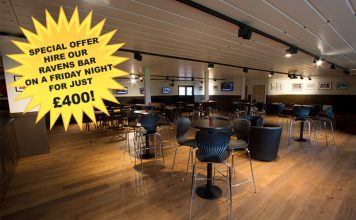Special Offer – Ravens Bar Friday Night hire just £400!