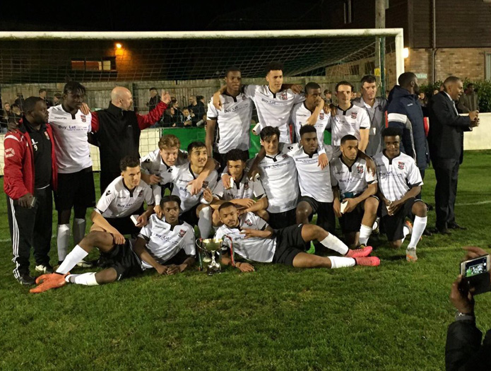 Champions: Bromley Under 18's lift League Challenge Cup