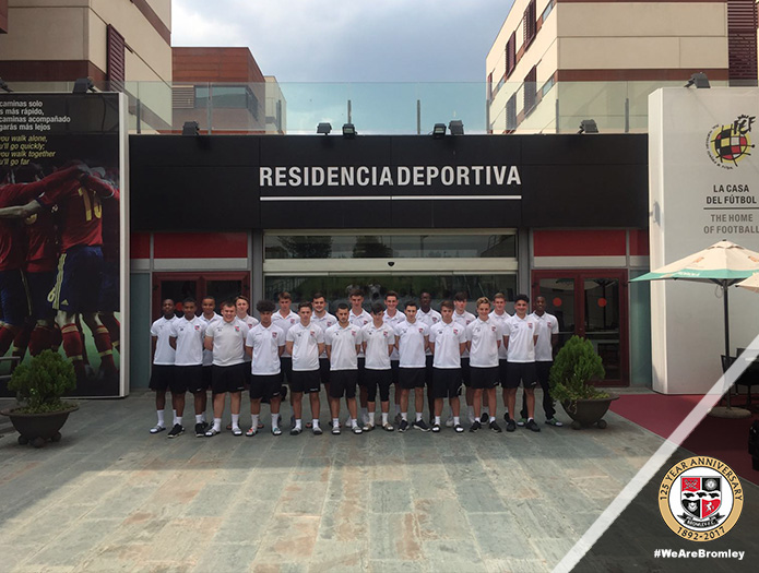 Bromley FC Academy on tour in Spain