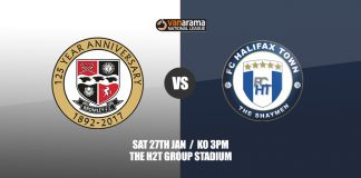 Sat 27th Jan Bromley v FC Halifax Town