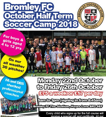 October Half Term Soccer Camp