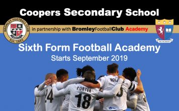 Trials: Bromley FC Academy @ Coopers Secondary School