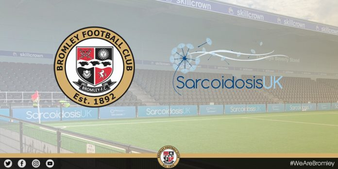 Bromley Football Club form charity partnership with Sarcoidosis UK