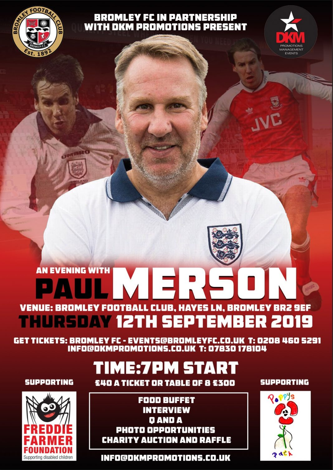 An evening with Paul Merson at Bromley FC