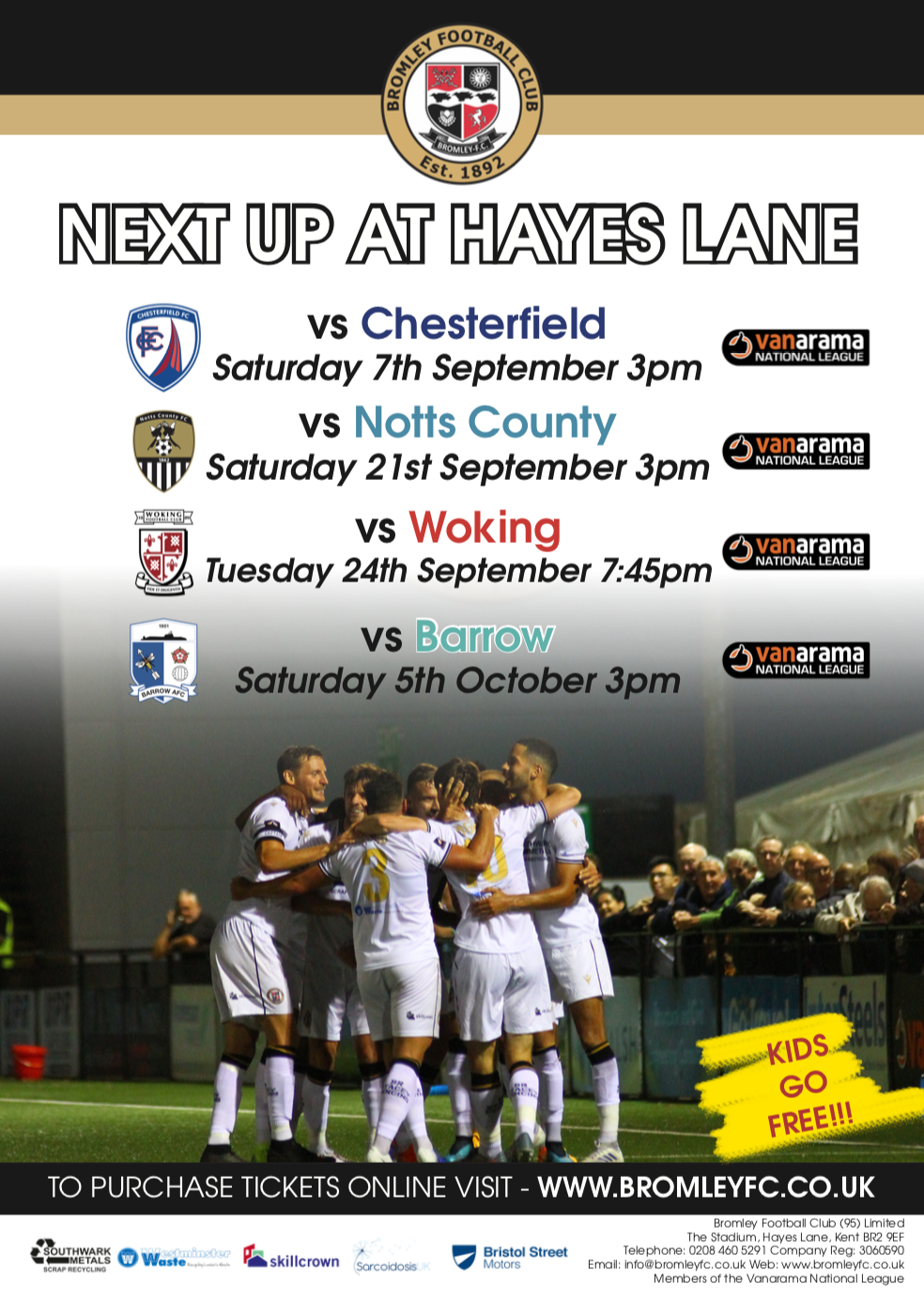 Bromley FC Bromley South Poster