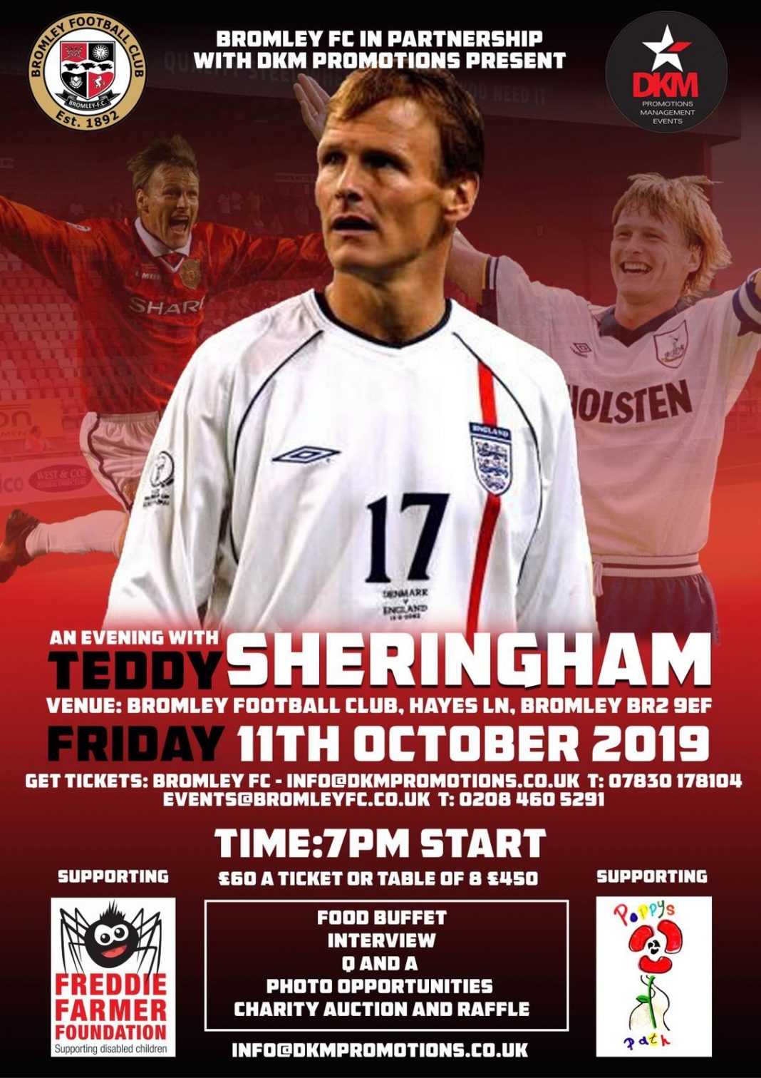 An evening with Teddy Sheringham at Bromley FC