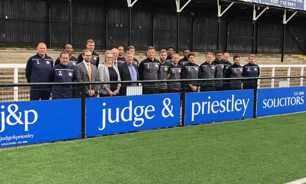 Judge & Priestley announced as one of Bromley Football Club's Premier Sponsors