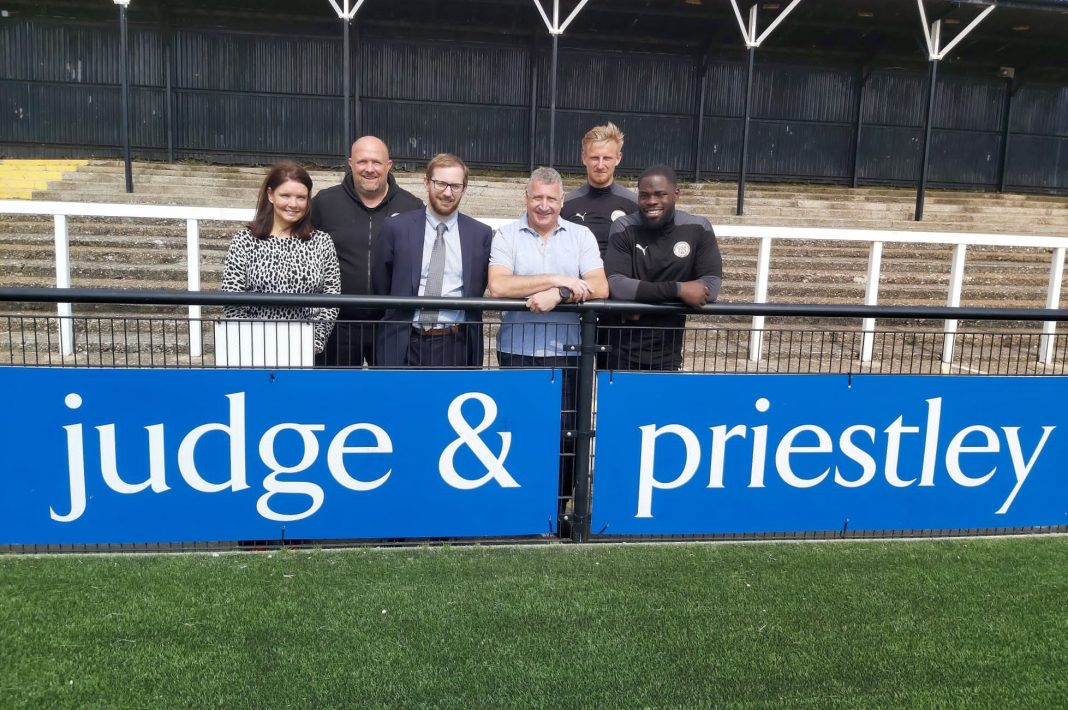 Judge & Priestley solicitors to continue their sponsorship of Bromley Football Club
